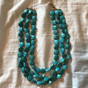 Francesca's turquoise beaded necklace - EUC !